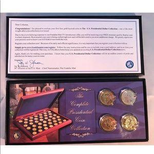 Franklin Mint 24K Gold Plated Presidential Dollar